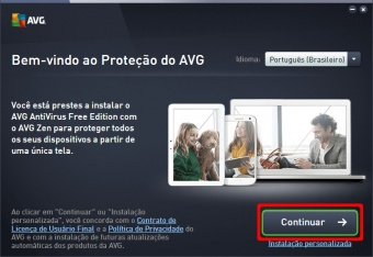 continuar instalacao antivirus gratis